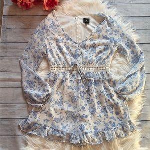 Disney Princess Floral Crochet Waist Ruffle Romper